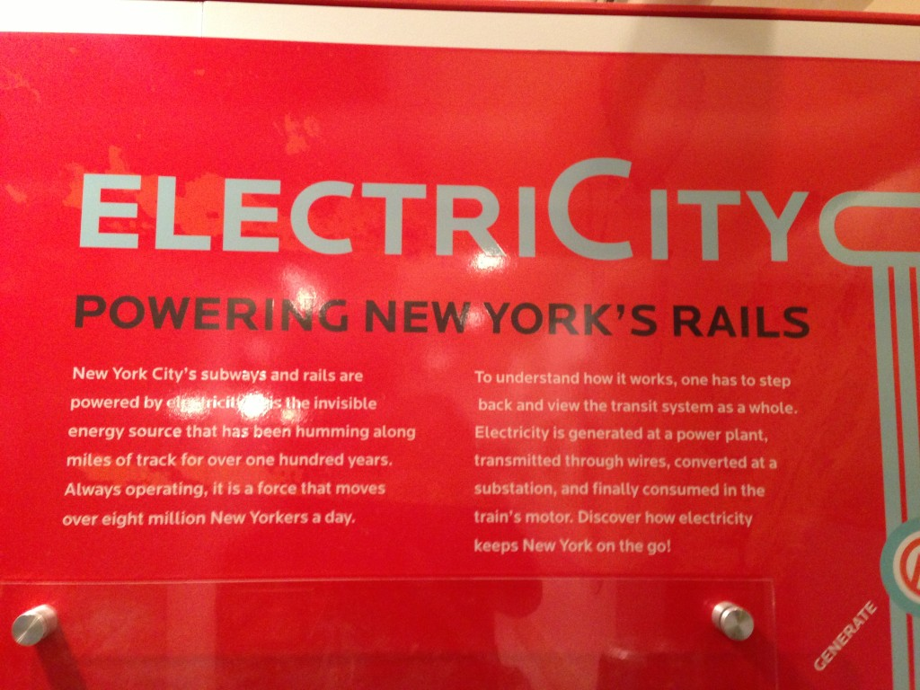 Electricity, the invisible force that moves over eight million New Yorkers a day - including me!