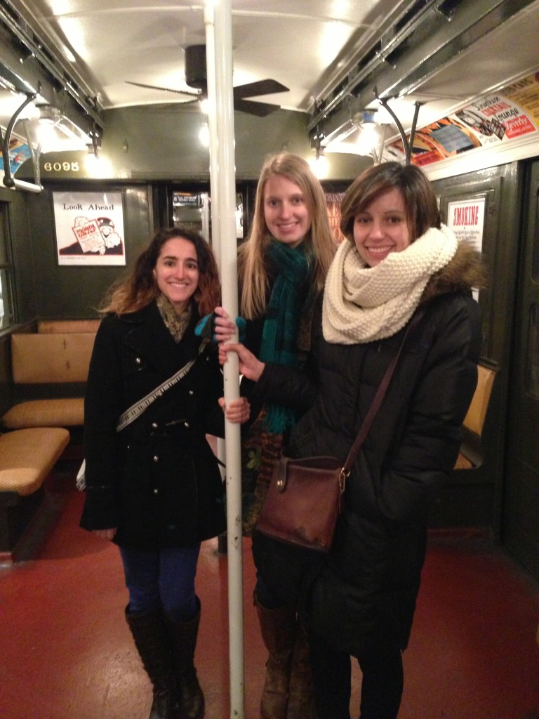 Group Shot on in an old subway car